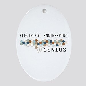 Electrical Engineering Genius Oval Ornament