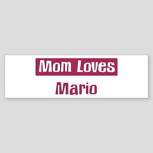Mom Loves Mario Bumper Sticker