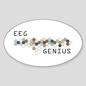 EEG Genius Oval Sticker