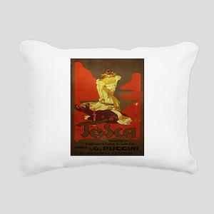 Vintage poster - Tosca Rectangular Canvas Pillow