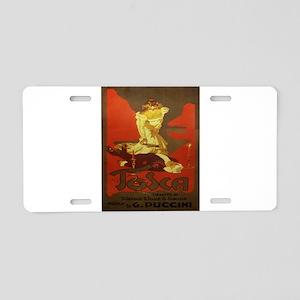 Vintage poster - Tosca Aluminum License Plate