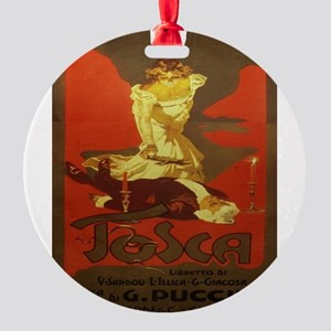 Vintage poster - Tosca Round Ornament