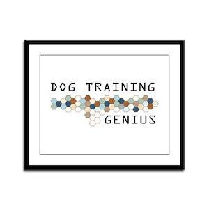 Dog Training Genius Framed Panel Print