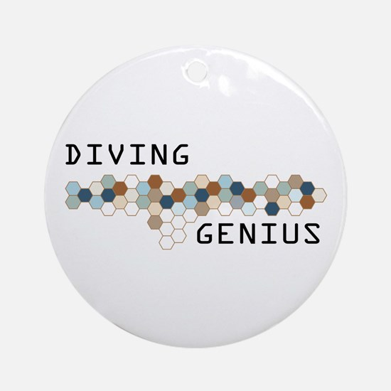 Diving Genius Ornament (Round)
