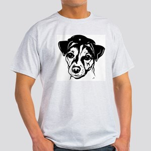 Obey the Jack Russell! icon Ash Grey T-Shirt