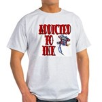 Addicted to Ink Ash Grey T-Shirt