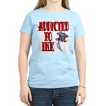 Addicted to Ink Women's Pink T-Shirt