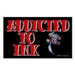 Addicted to Ink Rectangle Sticker