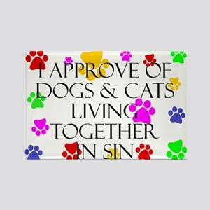 Pets living in sin Rectangle Magnet