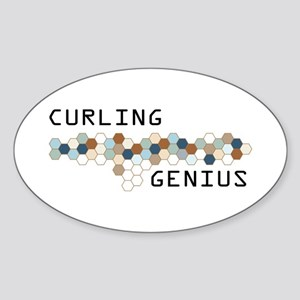 Curling Genius Oval Sticker