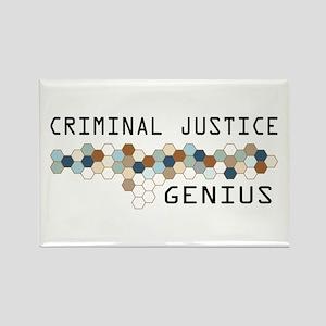 Criminal Justice Genius Rectangle Magnet