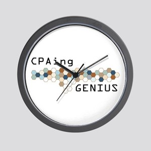CPAing Genius Wall Clock