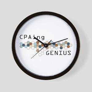 CPAing Genius Wall Clock