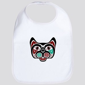 Northwest Pacific coast Haida Kitty Baby Bib