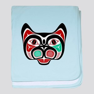 Northwest Pacific coast Haida Kitty baby blanket