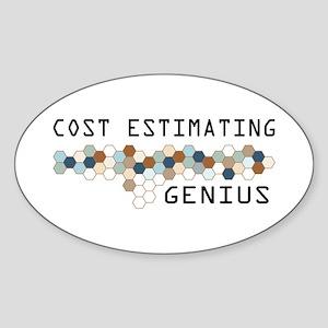 Cost Estimating Genius Oval Sticker