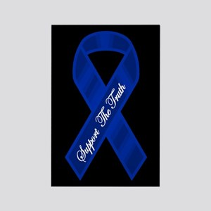 SUPPORT THE TRUTH RIBBON Rectangle Magnet