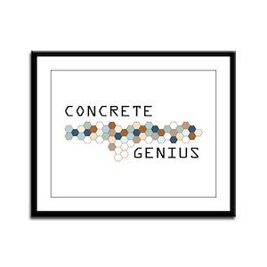 Concrete Genius Framed Panel Print