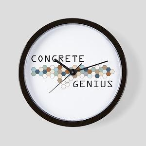 Concrete Genius Wall Clock