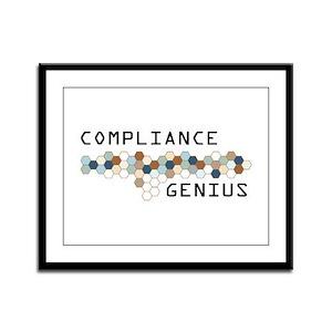Compliance Genius Framed Panel Print