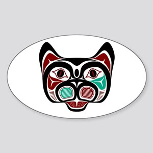 Northwest Pacific coast Haida Kitty Sticker