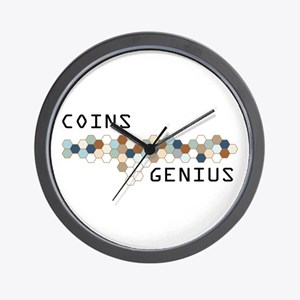 Coins Genius Wall Clock