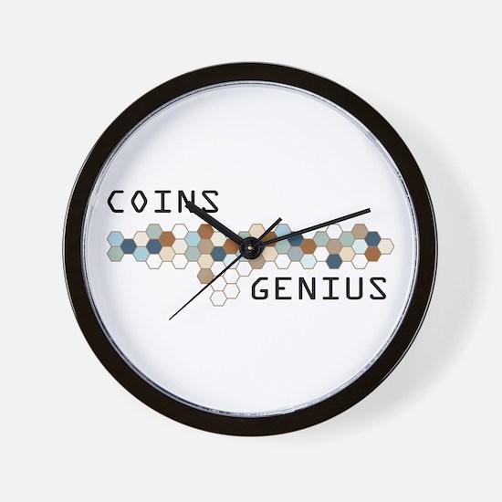 Coins Genius Wall Clock