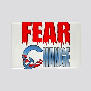 Fear Obama's Change! Rectangle Magnet