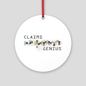 Claims Genius Ornament (Round)