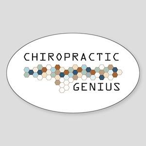 Chiropractic Genius Oval Sticker