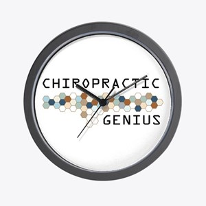 Chiropractic Genius Wall Clock
