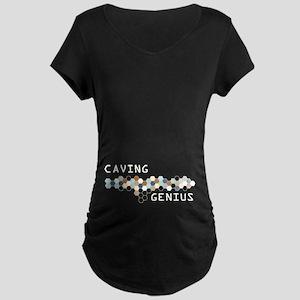 Caving Genius Maternity Dark T-Shirt