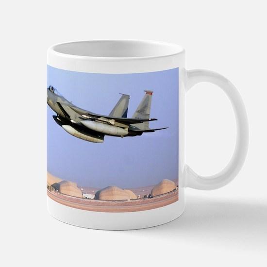 F15 Eagle taking off for Iraq Mug