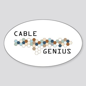 Cable Genius Oval Sticker