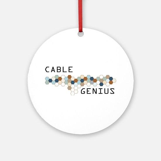Cable Genius Ornament (Round)