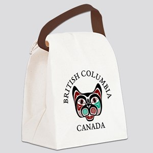 British Columbia Haida Kitty Canvas Lunch Bag