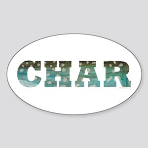 CHAR Word Oval Sticker