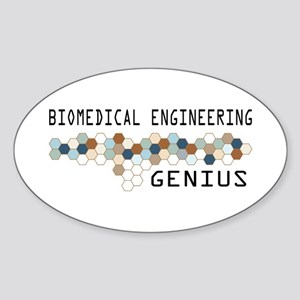 Biomedical Engineering Genius Oval Sticker