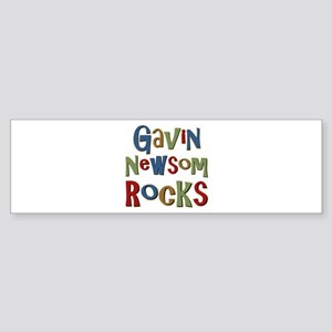 Gavin Newsom Rocks Bumper Sticker