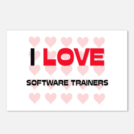 I LOVE SOFTWARE TRAINERS Postcards (Package of 8)