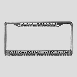 License Plate Frame - SILVER-BLACK