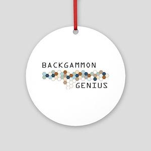 Backgammon Genius Ornament (Round)