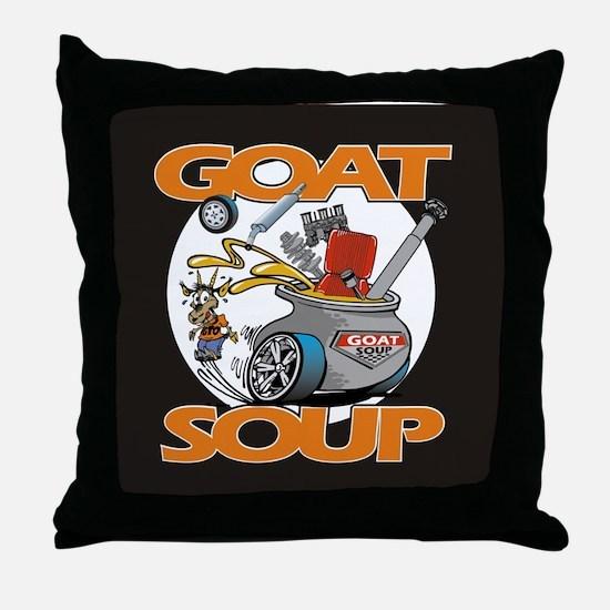 Cute Goat soup Throw Pillow