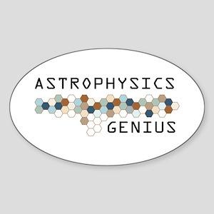 Astrophysics Genius Oval Sticker