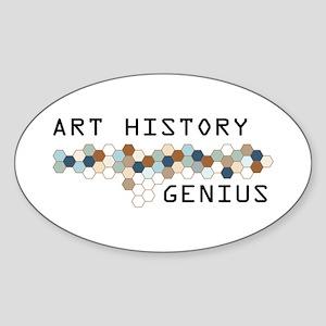 Art History Genius Oval Sticker