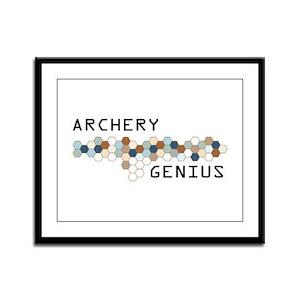 Archery Genius Framed Panel Print