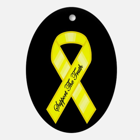 SUPPORT THE TRUTH RIBBON Oval Ornament