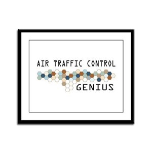 Air Traffic Control Genius Framed Panel Print