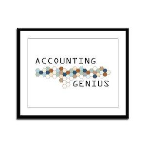 Accounting Genius Framed Panel Print