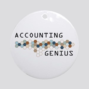 Accounting Genius Ornament (Round)